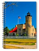 Mackinac Point Light Spiral Notebook