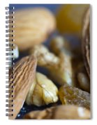Macro Shots Of Various Dry Fruit Items Such As Almonds And Walnuts And Raisins Spiral Notebook