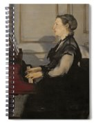 Madame Manet At The Piano Spiral Notebook