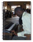 Madona Playing Piano In Nigerian Church Spiral Notebook
