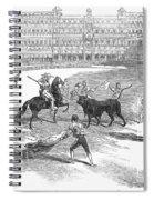 Madrid: Bullfight, 1846 Spiral Notebook