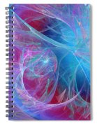 Magenta Blue Spiral Notebook
