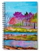 Magenta Woods Spiral Notebook