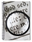 Magnifying News Spiral Notebook