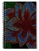 Magnolia Abstract Sketch Spiral Notebook