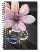 Magnolia Blossom In Glass Mug Spiral Notebook
