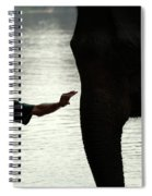 Mahut With Elephant Spiral Notebook