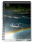 Maid Of The Mist And Rainbow At Niagara Falls Spiral Notebook