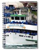 Maid Of The Mist Boat At Niagara Falls Spiral Notebook