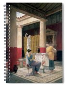 Maidens In A Classical Interior Spiral Notebook