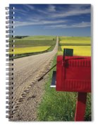Mailbox On Country Road, Tiger Hills Spiral Notebook