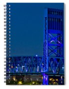 Main Street Bridge Jacksonville Spiral Notebook