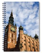Main Town Hall In Gdansk Spiral Notebook