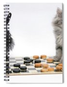 Maine Coon Kitten And Black Rabbit Spiral Notebook