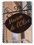 Maison De L'olive Spiral Notebook