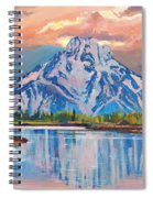 Majestic Blue Mountain Reflections Spiral Notebook