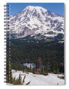Majestic Rainier Reflected Spiral Notebook