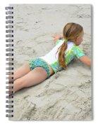 Making A Sand Angel Spiral Notebook