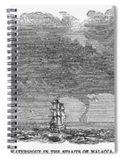 Malacca: Waterspouts Spiral Notebook