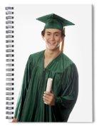 Male Graduate Spiral Notebook