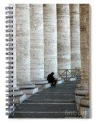 Man And Columns Spiral Notebook