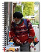 Man In A Red Sweater Spiral Notebook