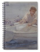 Man In A Rowing Boat Spiral Notebook
