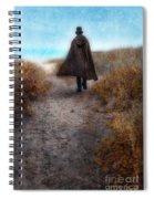 Man In Cape And Top Hat By The Sea Spiral Notebook