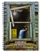 Man In Ruined House Spiral Notebook