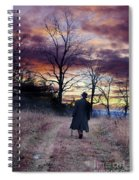 Man In Top Hat With Cane Walking Spiral Notebook