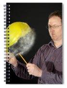 Man Popping A Balloon Spiral Notebook