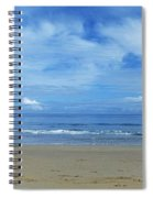Man Riding A Pony On The Beach Spiral Notebook