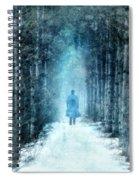 Man Walking Through Snowy Woods Spiral Notebook