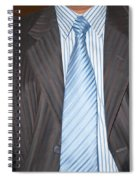 Man Wearing A Suit And Tie Spiral Notebook