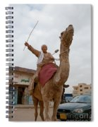 Man With His Camel Spiral Notebook