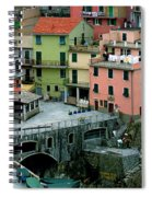 Manarola Houses On The Cinque Terre II Spiral Notebook