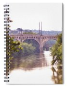 Manayunk Bridge Along The Schuylkill River Spiral Notebook
