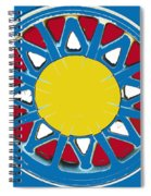 Mandala In Primary Colors Spiral Notebook