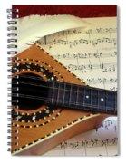 Mandolin And Partiture Spiral Notebook