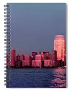 Manhattan In Pink Spiral Notebook