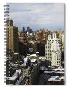 Manhattan View On A Winter Day Spiral Notebook