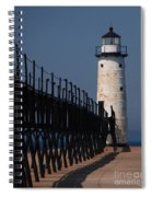 Manistee Harbor Lighthouse And Cat Walk Spiral Notebook