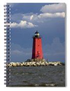Manistique Lighthouse In Michigan's Upper Peninsula Spiral Notebook