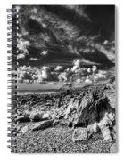 Manorbier Rocks Too Mono Spiral Notebook