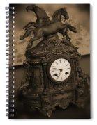 Mantel Clock Spiral Notebook