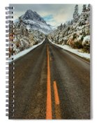 Many Glacier Road Spiral Notebook