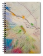 Map Abstract 2 Spiral Notebook