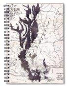 Map: Mississippi River, 1874 Spiral Notebook