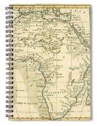 Map Of Africa Spiral Notebook