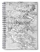 Map Of New France, 1566 Spiral Notebook